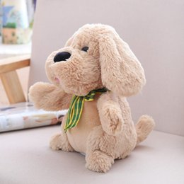 dog videos UK - 30cm 40cm Electric Dog Music Ears Flapping Move Interactive Plush Toy Stuffed Animal Singing Doll Dog Toys For Birthday Gift