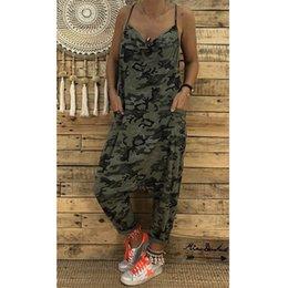 $enCountryForm.capitalKeyWord Australia - 2018 Summer Sleeveless Women Camouflage Printed Sexy Sling Jumpsuit Casual Wild Backless Female Loose Jumpsuit MX190726