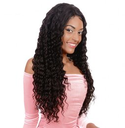 deep part wigs 2019 - Brazilian Human Hair Lace Wigs Glueless Full Lace Wigs with Baby Hair Deep Curly Free Part Lace Front Wig Ping cheap dee