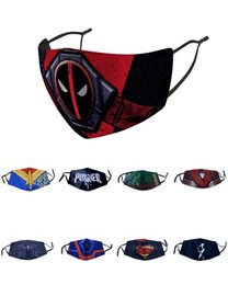 adult captain america mask Australia - Party Mask Christmas Ordinary Version superhero mask for adult Avengers Marvel black spiderman ironman captain america hulk Batman mask