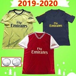 Vente en gros Arsenal soccer jeresy 2019 2020 # 14 Aubameyang # 9 Lacazette # 8 Ramsey # 17 Iwobi # 11 Torreira # 15 Niles # 34 Maillot de foot Xhaka 19 20 Maillot de foot Mustafi
