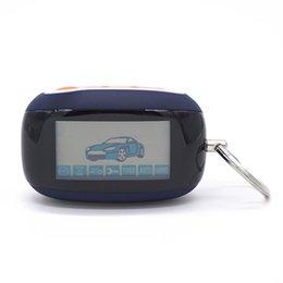 Car Start Stop UK - B92 Trinket Russia Version Keychain Alarm For Starline B92 Lcd Remote 2 Way Two Way Car Alarm System Start Stop Key Fob