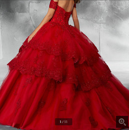 $enCountryForm.capitalKeyWord Australia - Blue Ball Gown Quinceanera Dresses 2019 Detachable Sleeves Sweet 16 Dresses Tiered Skirt Beading Lace appliques corset prom gown