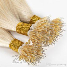 $enCountryForm.capitalKeyWord Australia - Russian Human Hair Virgin 1g  strand 16 To 26 inch Straight 100g Brown White Blonde Double Drawn Nano Tip Keratin Pre Bonded Hair Extensions