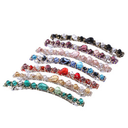 Red Hair Clip Styles Australia - 1PC Shiny Korean Style Crystal Rhinestone Barrette for Women Girls Elegant Hairpin Headwear Hair Clip Hair Accessories Wholesale