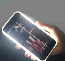 $enCountryForm.capitalKeyWord Australia - Perfect Selfie Light Up Glowing Case Cover For Iphone X XS 6 7 8 Plus Luxury Luminous Phone Case For Samsung