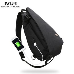 8bf9ef4ed2 Mark Ryden New Arrivals USB Design High Capacity Chest bag Men Crossbody Bag  suit for 9.7 inch Pad Water Repellent Shoulder Bag