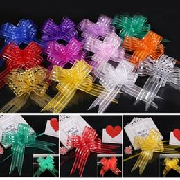 $enCountryForm.capitalKeyWord Australia - Hot 10pcs lot Hand-pulled Car Door Pull Flower Decoration Bowknot Birthday Party Garland Chiffon Gift Boxs Bags Wedding