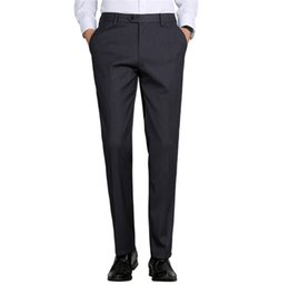 $enCountryForm.capitalKeyWord UK - Formal Dress For Men Long Pants High Quality Straight Suit Pants Men's Anti Wrinkle Business Dress Office