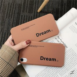 wholesale cell phone cases free shipping Australia - Phone Case For iphone x xs xs mas xr 6 7 8 6s plus Cell Phone Case Dream Letter Phone Shell Multi-style free shipping