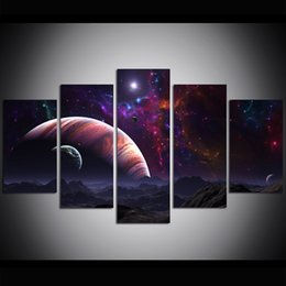 Chinese  5 Piece Large Size Canvas Wall Art Sistema Solar Oil Painting Wall Art Pictures for Living Room Paintings Wall Decor manufacturers