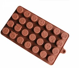 $enCountryForm.capitalKeyWord UK - Hot sell Emoji Chocolate Silicone Mold For Cake Cookies Mold Baking Accessories Fondant Candy Silicone DIY Molds