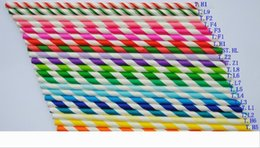 decorative drinking straws NZ - Colorful Paper Drinking Straws Birthday Wedding Decorative Party Event Hawaiian Holidays Luau Sticks Supplies Creative Drinking Straws 777