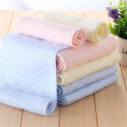 Cloth Inserts Layer Wholesale Australia - 3 Layers Ecological Cotton Soft and Breathable Baby Cloth Nappy Inserts Reusable Washable Diapers Nappy Liners 5pcs set