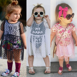 $enCountryForm.capitalKeyWord Australia - Toddler Infant Baby Girl Kids Princess Party Swimming Costume Sundress Summer Floral Beach Cover Ups Blouse Bathing Suit Bikini