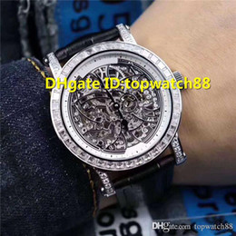 luxury swiss diamond watches Australia - WX 2019 Hot Sale Men Wristwatches Swiss Automatic Sapphire Crystal Skeleton Dial Diamond Stainless Steel Case calfskin strap Mens Watch