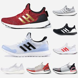 clear housing Australia - Top Sneaker UltraBoost Game of Thrones White Walker House Lannister 19 Mens Women Running Shoes LASER REDLASER RED Panda Oreo Women Trainers