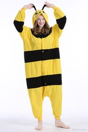 $enCountryForm.capitalKeyWord Australia - Adult Animal Bee Pajamas Cartoon High Quality Flannel Kigurumi Onesies Cosplay Costumes Jumpsuits Christmas Best Gift