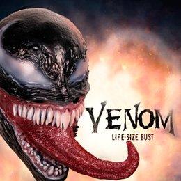 New Spider-man The Venom Mask Cosplay Edward Dark Venom Latex Masks Helmet Halloween Party Props Brinquedos Gift Novel Design; In