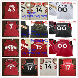 top quality youth soccer jerseys Canada - Custom Printed TorontoRaptorsJerseys Top Quality 2019 New Mens Women Youth Red White Black City Jersey. Message number and name on the order