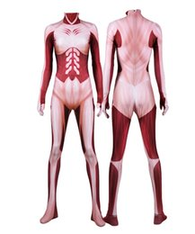 female titan cosplay UK - Attack on Titan Cosplay Costume Lycra Annie Leonha Female Gigantic Costume 3D Print Zentai Bodysuit Halloween Suit
