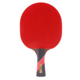 paddle tennis UK - Double Reverse Glue Ping Pong Shakehand   Long Handle Bat Paddle for Beginners Practice - 26 cm