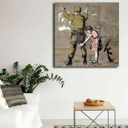 picture banksy NZ - Bethlehem Wall Graffiti By Banksy Wall Art Canvas Poster And Print Canvas Painting Decorative Picture For Living Room Home Decor