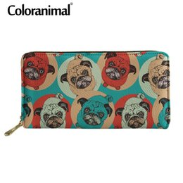 $enCountryForm.capitalKeyWord Australia - Coloranimal Funny 3D Cute Pug Dog Print Wallet Card Holder Money Bag Female Bag Zipper Multifunction Leather Long Wallets Purse