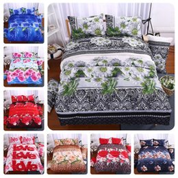 purple roses bedding sets comforters Australia - 4Pcs 3D Rose HD Printing Bedding Set 220*240cm 200*230cm 150*200cm Quilt Cover 48*78cm*2 Pillow Case Comforter Bedding Sets