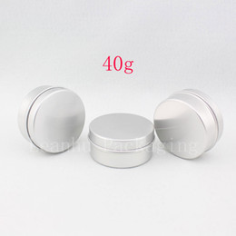 metal tea tin containers wholesale Australia - 40g empty cream aluminum cosmetic jars slip lids ,tins containers for cream ointment,tea,food grade aluminum bottle for perfumes