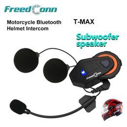 Helmets speakers online shopping - FreedConn subwoofer speaker Noise Reduction Motorcycle Helmet Bluetooth Waterproof Multifunction Intercom T MAX