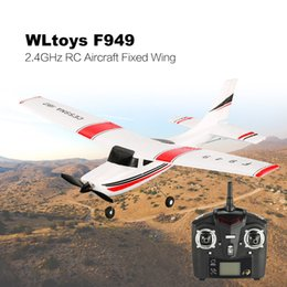 wings camera Canada - New Original Wltoys F949 2.4G 3CH Radio RC Airplane Fixed Wing RTF Plane Remote Control Plane 200m Distance Fly Kids Toys Gift