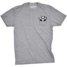43cf13ccf Mens Pocket Pandas Funny T shirts Printed Graphic Humor Cool Panda Novelty T