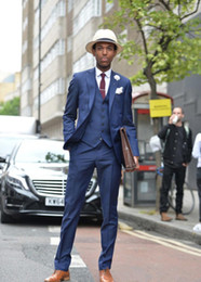 Beige Slim Suits For Men Australia - Navy Blue Formal Custom Beach Bridegoom Wedding Suits For Men Latest Coat Pant Designs Slim Fit 3 Pieces Tuxedo Masculino