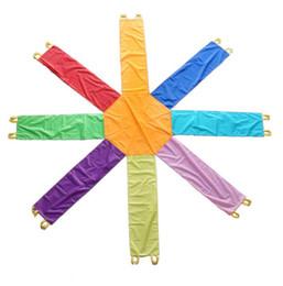 Fun Games Outdoors Australia - 2.4M 3.6M Diameter Outdoor Octagon Fun Game Umbrella, Parachute Toy For Kids, Rainbow Umbrella For Team Work