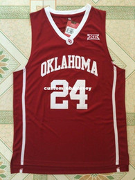 f3555168c Cheap custom Buddy Hield  24 NCAA Oklahoma College Basketball Jersey Red White  Stitched Customize any number name MEN WOMEN YOUTH XS-5XL