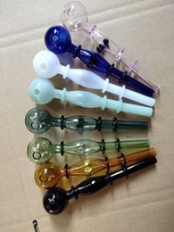 Wholesale Colored Water Glasses Australia - Colored multi-wheel glass straight pipe Wholesale Glass Hookah, Glass Water Pipe Fittings, Smoking ,Free Shipping