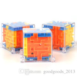 Maze Balls Australia - 4*4cm Puzzle Maze Magic Cube Toys gift 3D Mini Speed Cube Puzzles Labyrinth Rolling Ball Cubos Magicos Learning Toy for Children Adults z215