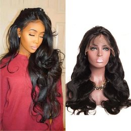 Dyeing Hair Black Australia - Women Lace Front Wigs Real Human Hair Wave Curls Medium Long Hair Body Wave Ironing Dyeing Conventional Wig Natural Black