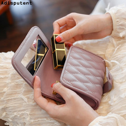 $enCountryForm.capitalKeyWord Australia - Adisputent 2019 Lipstick Cosmetic Bag Makeup Bag With Mirror Portable Large Capacity Mini Pouch Beauty Case Toolbox Small Cases