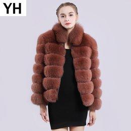 $enCountryForm.capitalKeyWord Australia - 2019 Hot Sale Real Natural Fox Fur Coat Real Fox Fur Long Sleeves Jacket Winter Collar Natural Overcoats