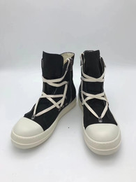 layer boots UK - New list exclusive hardware fashion upper canvas shoes inner lining top layer leather upper and toe TPU milk bottom casual boots