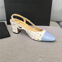 Großhandel Neue slingbacks Damen Pumps slingbacks Luxus hochwertige Mode Damen Sandalen Pumps Designer Schuhe mit Box