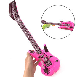 $enCountryForm.capitalKeyWord UK - Novelty Plastic Inflatable Guitar Summer Beach Swim Pool Funny Toy Outdoor Water Seaside Game Props Birthday Party Decoration Wholesale