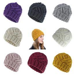 $enCountryForm.capitalKeyWord Australia - Women Beanie Cap Girl Keep Warm Manual Wool Knitted Earmuffs Soft Hats Thick Warm Bonnet Knitted Beanies Cotton Twist Pattern Caps FLE413