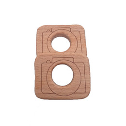 $enCountryForm.capitalKeyWord UK - 4pcs Wood Camera Teether Food Materials Organic Chew Necklace Silicone Teething Necklace Baby Safety Wooden Play Gym Toys