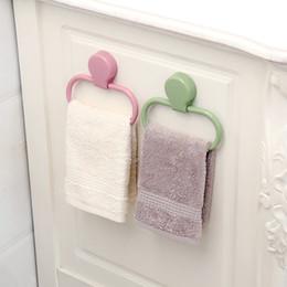 ABS, asciugamani portatile Rack facile da usare per bagno da parete Asciugamani anelli pasta Tipo Stick saldamente Titolare Rag calda 2 6xy Ww in Offerta