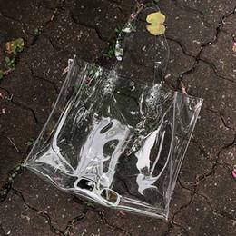 Опт FGGS-Повседневная женская сумка из ПВХ сумки Прозрачные пляжные сумки Летние сумки для покупок Женская сумка с открытыми плечами