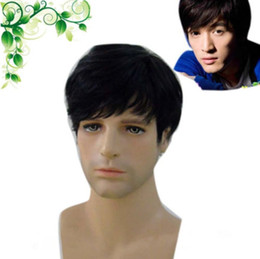 $enCountryForm.capitalKeyWord NZ - ePacket free shipping >Handsome Boy Men Short Straight Black Synthetic Cosplay Anime Full Hair Wigs
