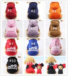 Wholesale Dog Hoodies Pet Clothes For Dogs Coat Jackets Cotton Dog Clothes Puppy Pet Overalls For Dogs Costume Cat Clothing Pets Outfits accessories